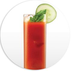 Skinny girl™ Bloody Mary Blitz  Ingredients:   2 parts Skinnygirl™ Cucumber Vodka      2 parts low sodium tomato juice      Splash of fresh lemon juice      Squeeze of fresh lime juice      Dash of Worcestershire sauce (to taste)      Dash of hot sauce      Sprinkle of celery salt    Directions:  Garnish with lime, cucumber and celery stalk.