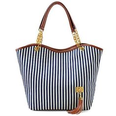 AutoM New Fashion Stripe Design Women Street Snap Candid Tote Single Shoulder Canvas Bag Handbag #MG #Collection #LUCIA #Ninewest #Nine #west #scarleton #baggallini #leather #wallet #New #York #Noble #Mount #noblemount #handbag #bags #bag #handbag #fashion #sneakers #shoes #women #pumps #heels #accessories #flats #boots #slippers #flipflops #style #clothes #clutch #clutches #crossbody #eveningbags #shoulderbags #wristlets #wallets #wallet #amazon *** Find this at: www.ollili.com/handbag5