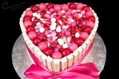 Heart Shaped Kit Kat Cake - Cookies, Cupcakes, and Cardio