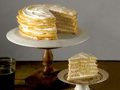 Perfect for my non-birthday cake guy! Pancake Cake with Maple Cream Frosting. Breakfast for dessert! Cover recipe from The Beekman 1802 Heirloom Dessert Cookbook Pancakes, Pancake Cake, Breakfast Cake, Breakfast Recipes, Dessert Recipes, Pancake Recipes, Birthday Breakfast, Breakfast Options, Pavlova