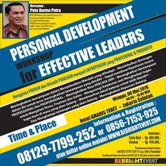 Seminar Pengembangan Diri Personal Development Programs  http://bebrightevent.com/personal-development-workshop-effective-leaders
