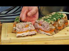 Galareta / golonka na zimno w galarecie / zimne nóżki - YouTube Meatloaf, Sandwiches, Pork, Keto, Kitchen, Youtube, Tricot, Meat, Rezepte