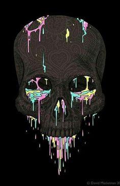 Wallpapers| fondos de pantalla| phone| cool| lindos| colores| Black And White| negro| calavera| bones| colors|