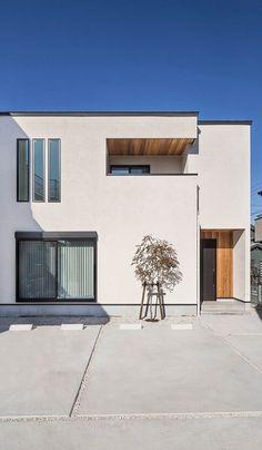 Trendy Home Plans Design Modern Minimal House Design, Unique House Design, Minimal Home, Home Building Design, Building A House, Japanese Modern House, New House Plans, Exterior Design, Modern Architecture
