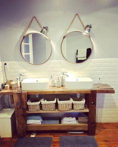 Salle de bain établi vintage