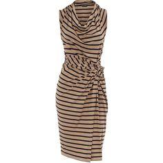 Tall stripe cowl neck dress, found on polyvore.com