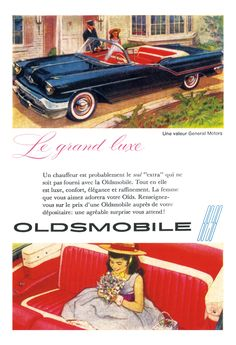 1957 Oldsmobile 98 Poster Size Advert by AtomicScrapbook on Etsy