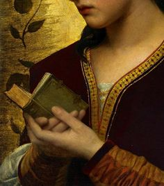 """Lady Reading a Book"" (1876) (detail) by Attilio Baccani (c. 1823-1906)."