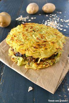 Tomate sans graines: Potato burger et son steak végétal