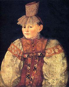 «Портрет тверской крестьянки в повязке с жемчужной поднизью» 1830-е