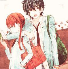 "The ""she is mine"" pose - Tonari no Kaibutsu-kun ~ DarksideAnime"