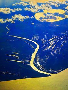 Golden River, Run to the Sea ⓒ 2013  / above Honduras / michaela medina harlow - thegardenerseden.com