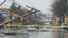 Storm whips Northeast with rain, floods; over 1 million customers lose power Sussex County, Storm Surge, Severe Storms, Power Outage, Winter Storm, Natural Disasters, Slammed, East Coast, Utility Pole
