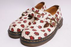 Dr. Martens Size 8 UK 2 Lady Bugs Mary by MetropolisNYCVintage