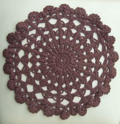 #Vintage Cotton #Crocheted #Doily Hand made Chocolate Brown Round Doily, Lacework, Cottage Chic, Shabby Chic, Made in Poland, Polish folk 80's Available at: etsy.com/shop/VintagePolkaShop #etsy #vintagelinen #etsyhomedecor #vintagedoily #etsydoily #handmade