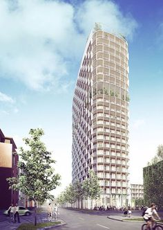 C.F. Møller Architects and C.F. Møller Landscape wins 22-storey High-rise Building in Västerås, Sweden, including a Panoramic Garden on the 15th Floor.