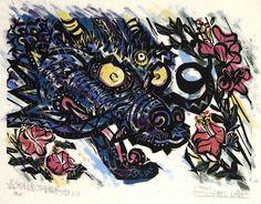 By Bokunen Naka (Okinawan Woodblock Artist)
