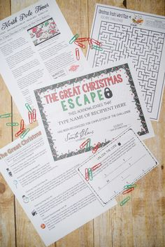 [The Great Christmas Escape] There are five Christmas escape room-type (trivia) challenges included in this file. They can be completed individually or in conjunction with one another, depending on the time available in your planning. The challenges could be used as individual, pair or small group activities.