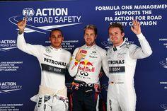Pertinho do tetra, Vettel faz pole com 0s7 de vantagem para Rosberg e Alonso sai apenas em oitavo.
