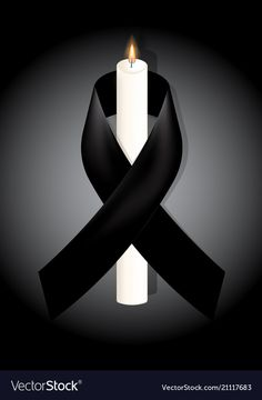 Black awareness ribbon with white candle on white vector image on VectorStock Thinking Of You Today, Ribbon Logo, Funeral Cards, Color Dust, Flower Phone Wallpaper, Black Candles, Heart Wall, Trendy Wallpaper, Awareness Ribbons