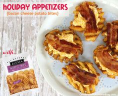Cheesy Bacon Potato Bites!  These are sort of a spin on the classic potato skins you get at restaurants.