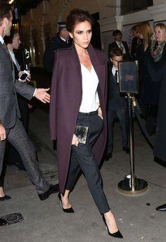 VB in a bold statement coat. Fall Fashion 2014. #fall #fashion #2014