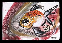 """Hamilton Fish"" Series of works ... The Contemporary Fish Art of J. Vincent Scarpace: fish paintings, abstract art, original fine art."