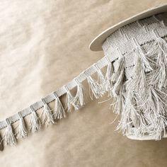 Gypsy Fringe-Outdoor Linen, www.fringemarket.com, #fringemarket #passementerie #apparelfringe #madeinusa #trimmings #performancetrims