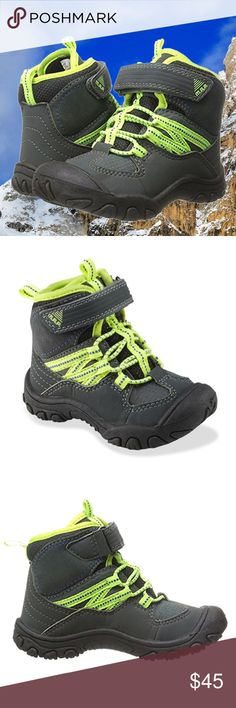 M.A.P. Boys' Alps Snow Boots Water-resistant ✔Featuring sturdy construction, padded insoles and all the extra support your toddler needs, these M.A.P. Alps Boys boots are the perfect companions for your surefooted mini-mountaineer.  ✔Playful neon accents, TPR with Trail Ready traction, Cushioned midsole for added comfort and stability, Toe and heel bumpers, Easy on/off, Hook and loop closure for perfect adjustable fit  ✔Rugged nylon and leather upper,  rubber traction outsole  ✔Size: US 7 M…