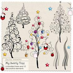 Digital Anemona: Christmas trees
