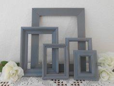 Set of 5 -Rustic Beach Cottage Blue Shabby Chic - $49.99, via Etsy.