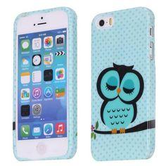 iPhone 5 / 5s hoesje | Blauwe uil | verkrijgbaar op: http://www.telefoonhoesjestore.nl/lief-uiltje-design-tpu-hoesje-iphone-5-5s.html