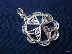 Handmade Sterling Silver Filigree Maltese Cross Pendant by TrulyFiligree, $28.50