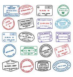 vector passport graphics