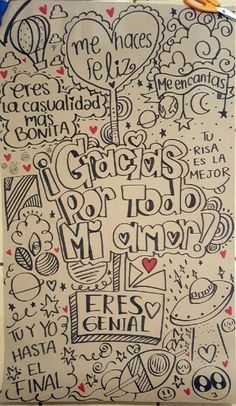 Ideas en imagenes y dibujos para cartas de amor Love Gifts, Diy Gifts, Amor Ideas, Love Messages, Love Letters, Boyfriend Gifts, Graffiti, Diy And Crafts, Love Quotes