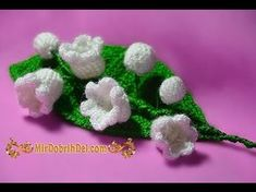 Вязание крючком. Цветок ландыш или колокольчик \\\\ Crochet. Flower lily of the valley or bell - YouTube Bouquet Crochet, Crochet Brooch, Crochet Flowers, Crochet Earrings, Crochet Poncho, Love Crochet, Irish Crochet, Flower Studio, Crochet Videos