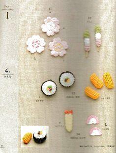 Applique by seasons, holidays, sports ... #Japanese #crochet #book #Asahi #original