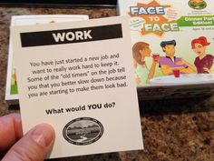 The struggles with coworkers...What would YOU do?  Face to Face Dinner Party Edition.  Scenario of the Day 12-01-14