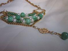 Atalanta: bead, pearl, and chain necklace