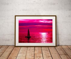 #sunset  #Boats #Sunset #horizon  #ocean  #sea  #nautical  #wallart #posters #prints #silhouette #pink #red #homedecor #roomdecor #gifts #giftideas #giftsforher #giftsfordad #giftsforhim #valentinesday #etsy #etsyseller