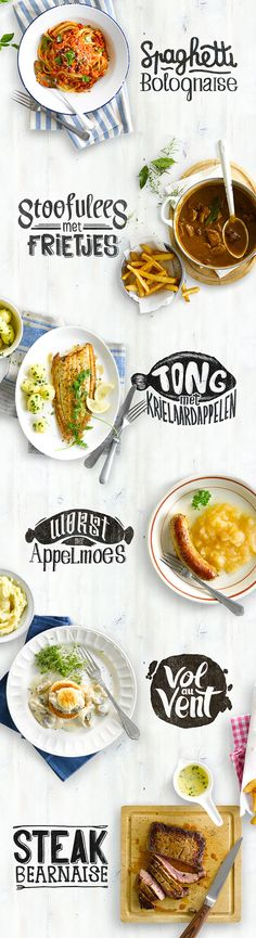 Custom recipe typography