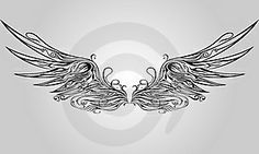 Angel wings! Want this as a tattoo on back. Need the courage to go through with it.