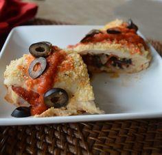 Pizza-Stuffed Chicken - 14.5 net carbs for entire recipe