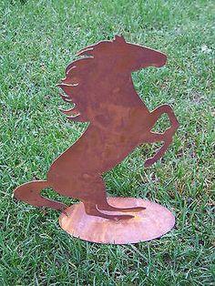 Inspirational Details zu Edelrost Pferd auf Platte Tiere Metallpferd Rostpferd Garten Dekoration