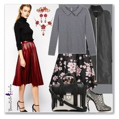 """BEAUTIFULHALO.COM-V-40"" by ane-twist ❤ liked on Polyvore featuring mode, MANGO, 3.1 Phillip Lim, Alaïa, women's clothing, women, female, woman, misses et juniors"