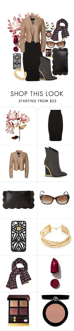 """""""Max Azria to the Max"""" by hanias-hangers ❤ liked on Polyvore featuring BCBGMAXAZRIA, Hervé Léger, NARS Cosmetics, Tom Ford and Giorgio Armani"""
