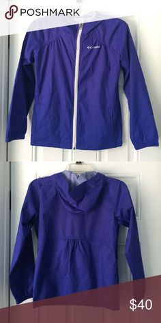 "💃🏾SALE💃🏾🎉HP🎉Columbia Rain Jacket Ready for the rain? You will be with this rain jacket! It is new without tag but has been in storage for a bit but has never been worn. I accidentally ordered the wrong size. This jacket is for a youth medium (size 10/12). In addition, it is designed to fit girls that are between 4'7-4'11"" in height. Let me know if you're interested! Columbia Jackets & Coats"