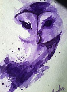 purple owl (artist unknown)
