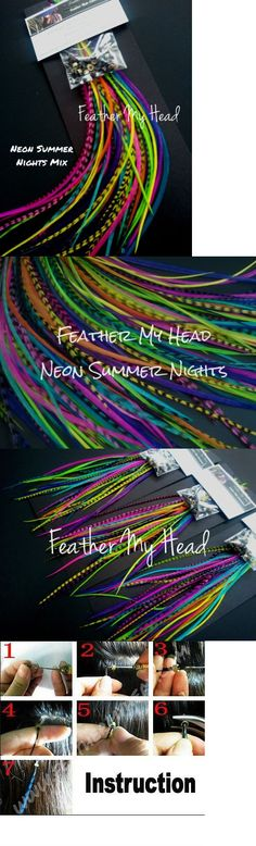 Hair accessories 50981 16 pc feather hair extension kit do it hair accessories 50981 16 pc feather hair extension kit do it yourself diy with solutioingenieria Image collections