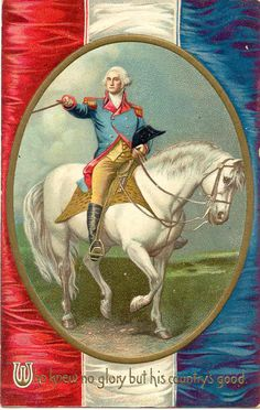 Antique George Washington patriotic postcard, by artist Ellen Clapsaddle. From my personal collection. Vintage Greeting Cards, Vintage Postcards, Vintage Images, Patriotic Posters, Patriotic Images, Birthday Postcards, Presidents Day, American Presidents, Little Kittens